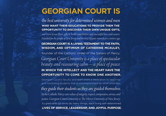 Georgian Court University - Market Voicing Brand Development Positioning Statement